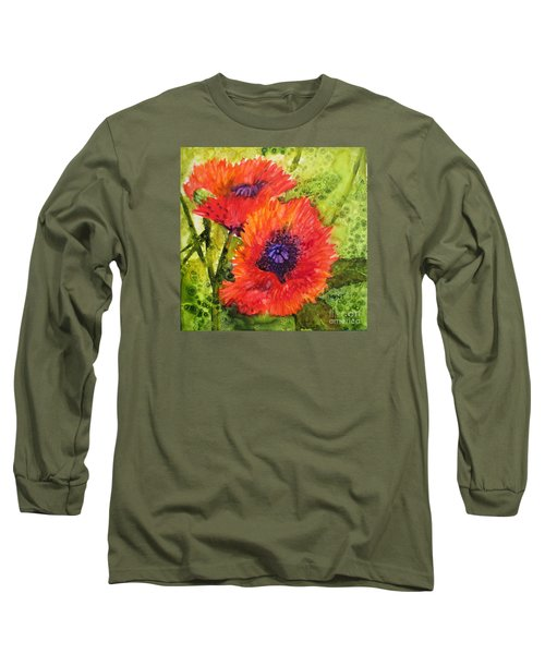 Barbs Poppies Long Sleeve T-Shirt
