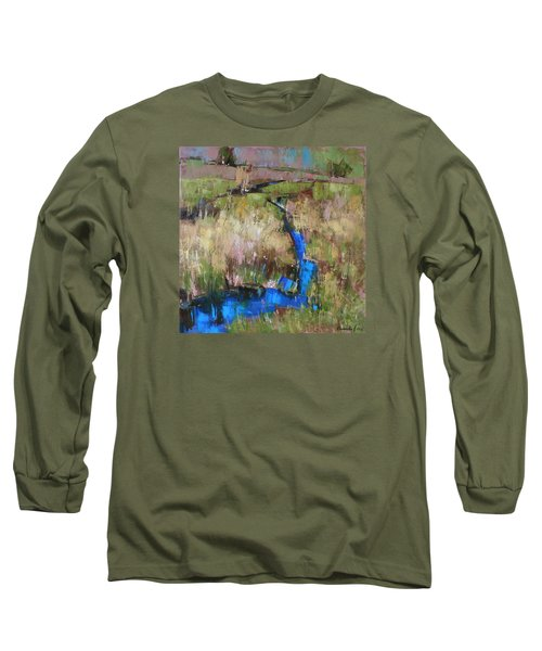 Long Sleeve T-Shirt featuring the painting Barefoot In The Dew  by Anastasija Kraineva