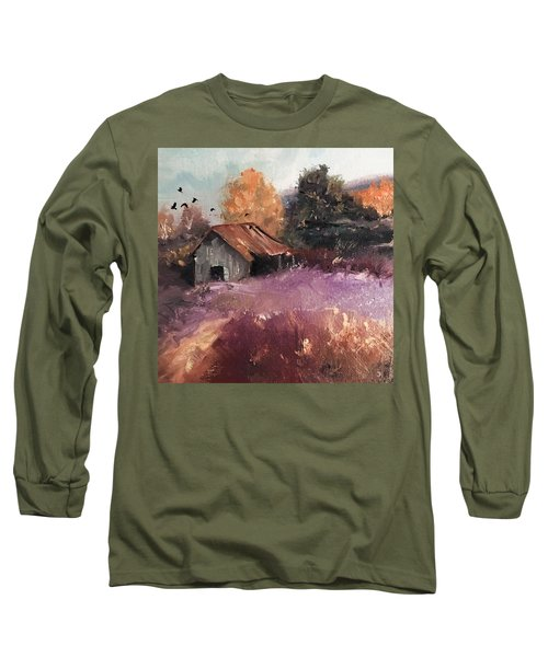 Barn And Birds  Long Sleeve T-Shirt by Michele Carter