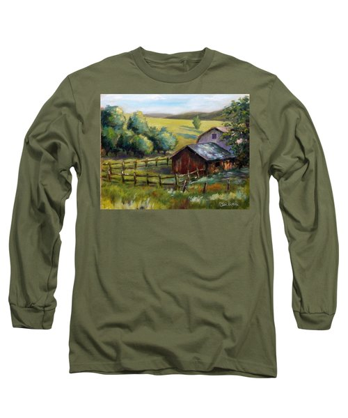 Barn And Field Long Sleeve T-Shirt