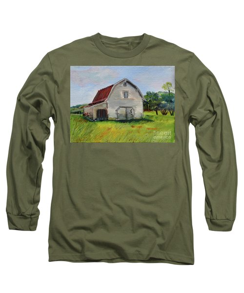 Barn-harrison Park, Ellijay-pinson Barn Long Sleeve T-Shirt