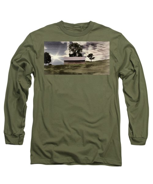 Barn II A Digital Painting Long Sleeve T-Shirt