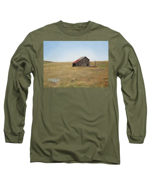 Long Sleeve T-Shirt featuring the painting Barn by Joshua Martin
