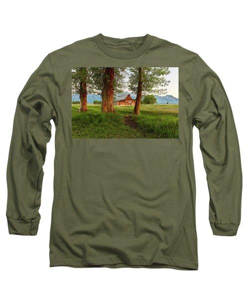 Barn On The Path Long Sleeve T-Shirt