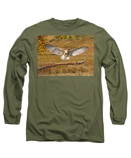Barn Owl Landing Long Sleeve T-Shirt