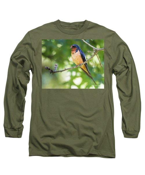 Barn Swallow  Long Sleeve T-Shirt by Ricky L Jones
