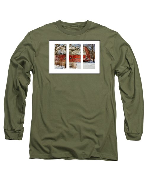 Barn Triptych Long Sleeve T-Shirt by Pat Cook