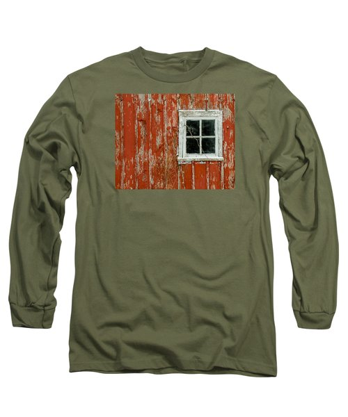 Barn Window Long Sleeve T-Shirt by Dan Traun