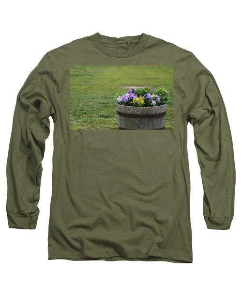 Barrel Of Flowers Long Sleeve T-Shirt