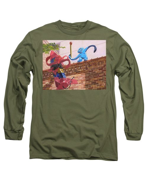 Long Sleeve T-Shirt featuring the painting Barrel Of Fun by Lynne Reichhart