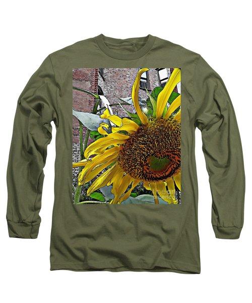 Barrio Sunflower 3 Long Sleeve T-Shirt by Sarah Loft