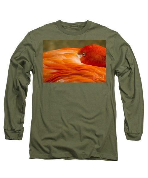 Bashful Flamingo Long Sleeve T-Shirt