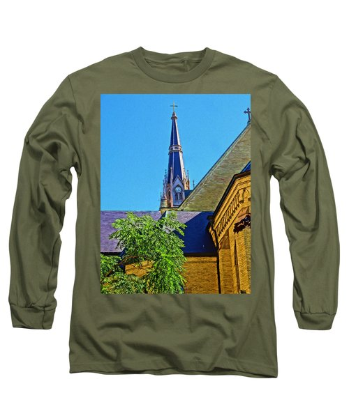 Basilica Of The Sacred Heart Notre Dame Long Sleeve T-Shirt by Dan Sproul