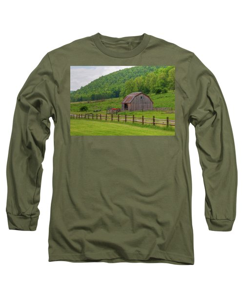 Long Sleeve T-Shirt featuring the photograph Bath Barn 0428a by Guy Whiteley
