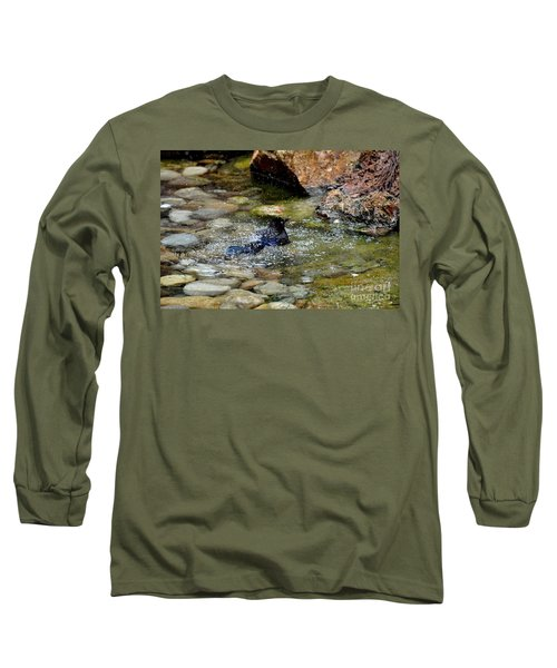 Long Sleeve T-Shirt featuring the photograph Bath Time by John Black