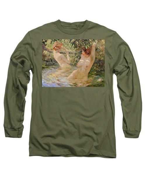 Bathers Long Sleeve T-Shirt by Pierre Van Dijk