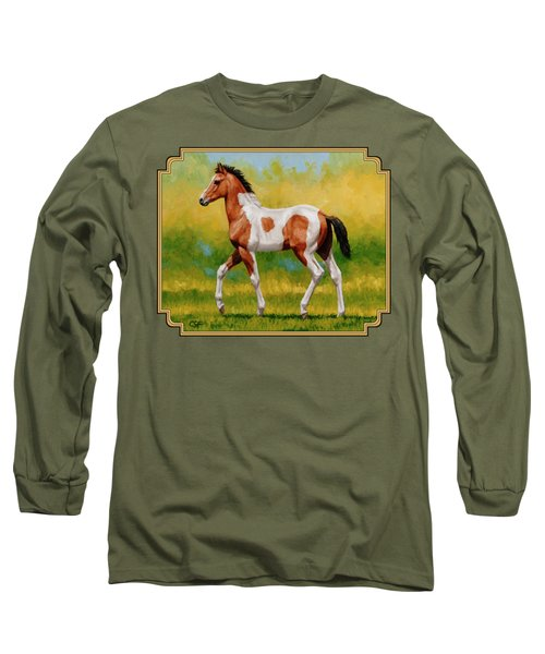 Bay Pinto Foal Long Sleeve T-Shirt