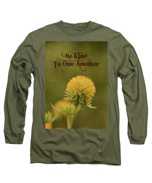 Long Sleeve T-Shirt featuring the mixed media Be Kind To One Another by Trish Tritz