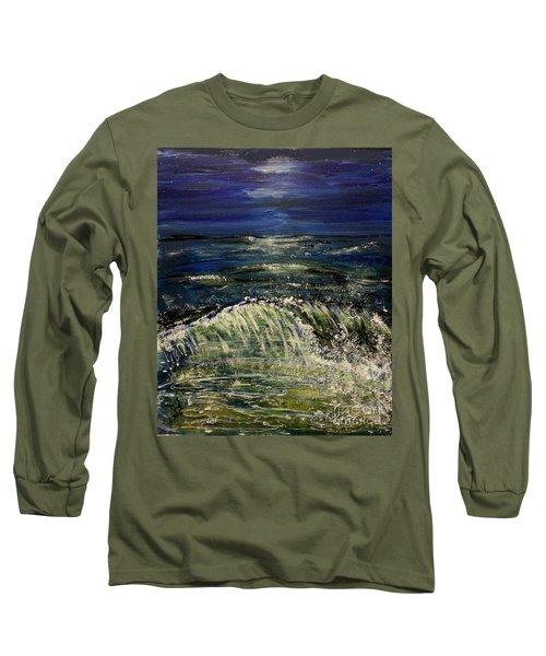 Beach At Night Long Sleeve T-Shirt