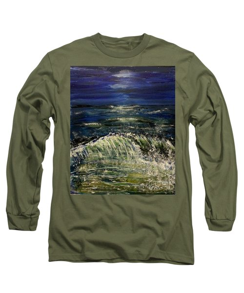 Beach At Night Long Sleeve T-Shirt
