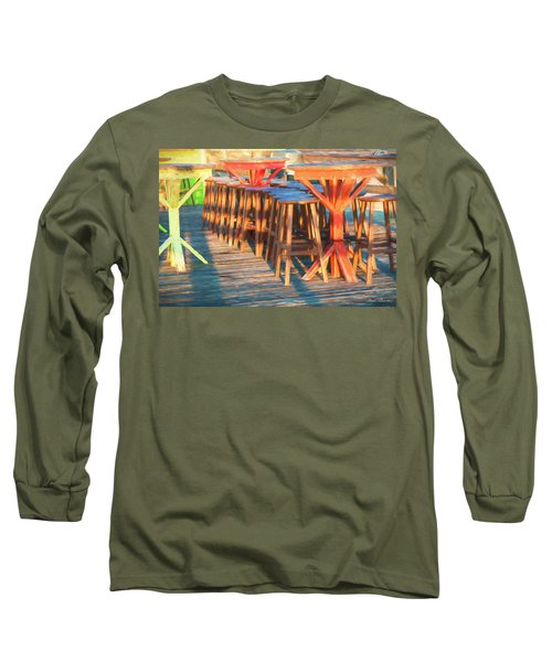 Beach Bar Morning Long Sleeve T-Shirt by Glenn Gemmell