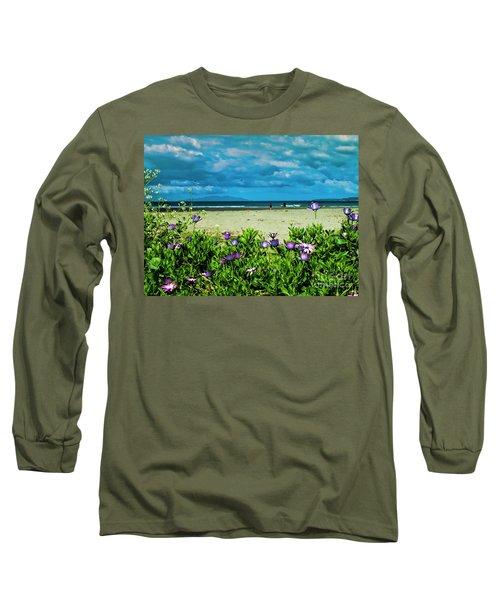 Beach Daisies Long Sleeve T-Shirt by Karen Lewis