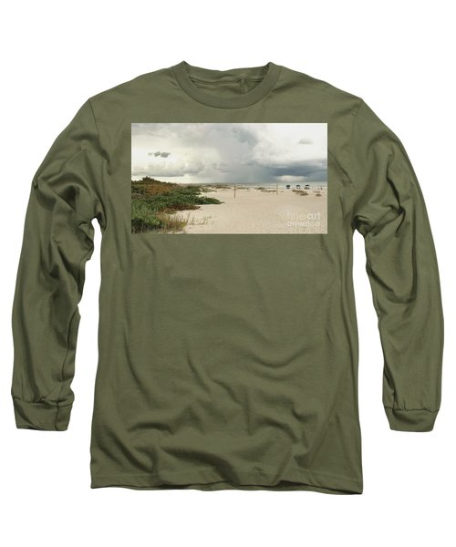 Long Sleeve T-Shirt featuring the photograph Beach Day by Raymond Earley