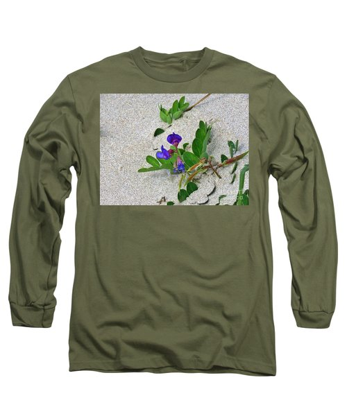 Beach Pea Vine Long Sleeve T-Shirt by Michele Penner
