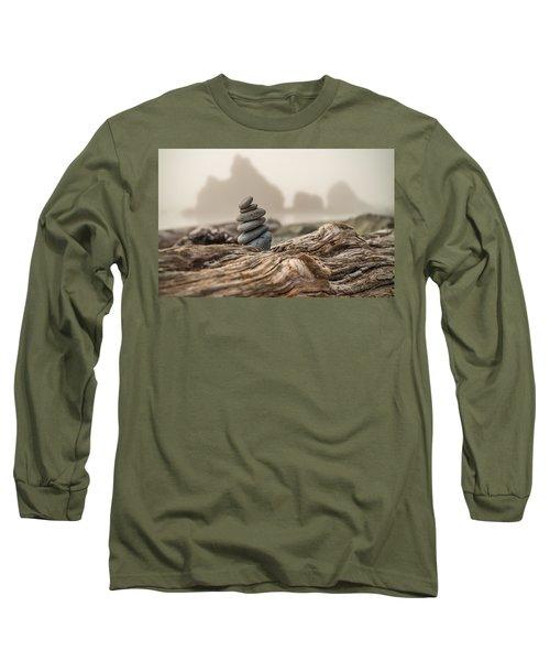 Beach Stack Long Sleeve T-Shirt by Kristopher Schoenleber