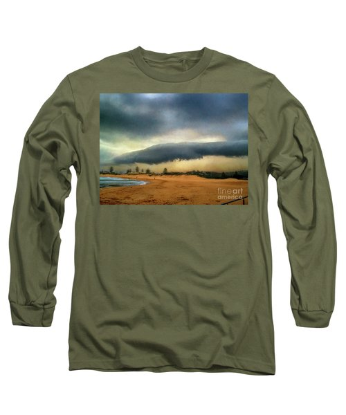 Long Sleeve T-Shirt featuring the photograph Beach Storm At Sunset By Kaye Menner by Kaye Menner
