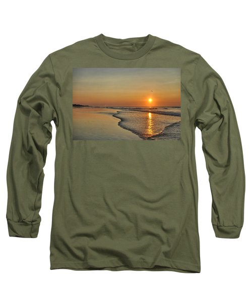 Topsail Nc Beach Sunrise Long Sleeve T-Shirt