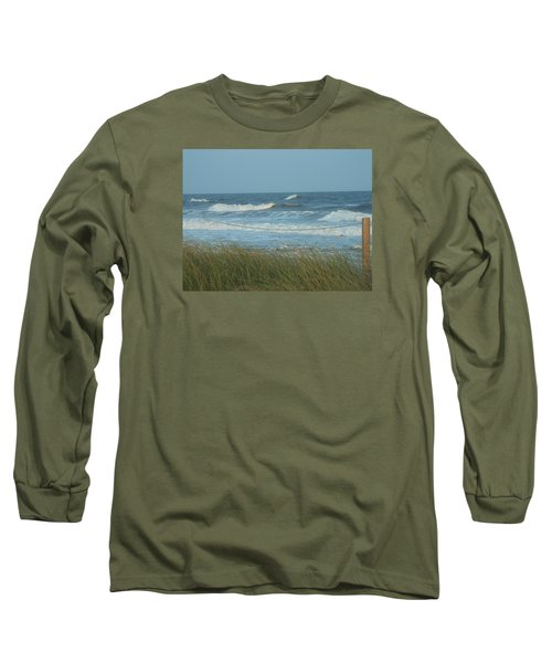 Long Sleeve T-Shirt featuring the photograph Beach Time by Jake Hartz