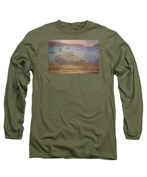 Beached For Cleaning Long Sleeve T-Shirt by Tom Singleton