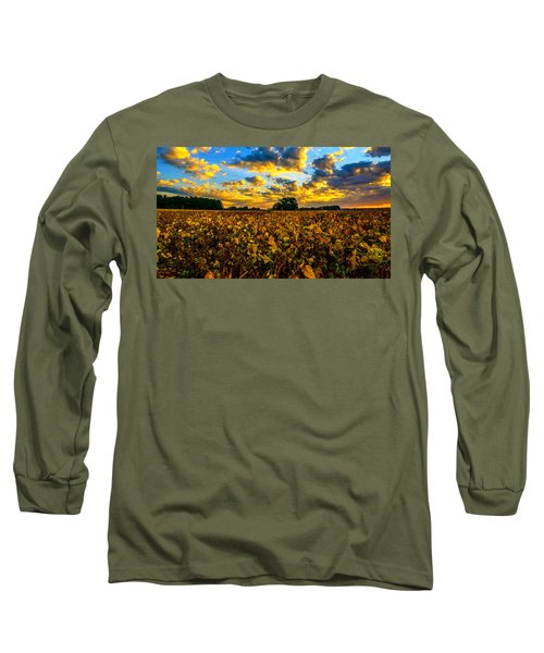 Bean Field Splendor  Long Sleeve T-Shirt by John Harding
