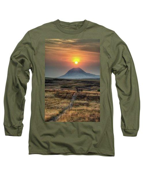 Bear Butte Smoke Long Sleeve T-Shirt