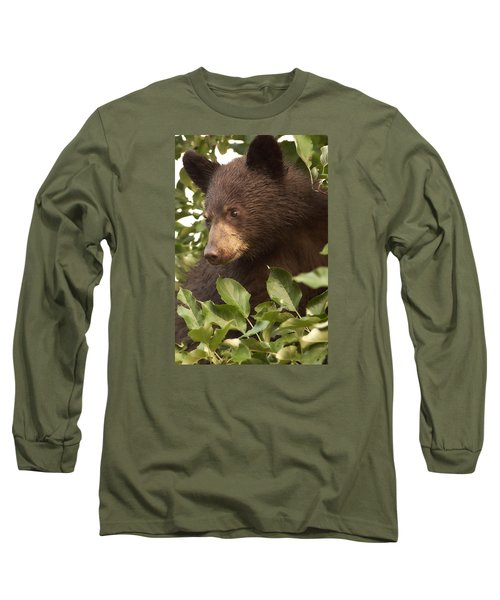 Bear Cub In Apple Tree1 Long Sleeve T-Shirt