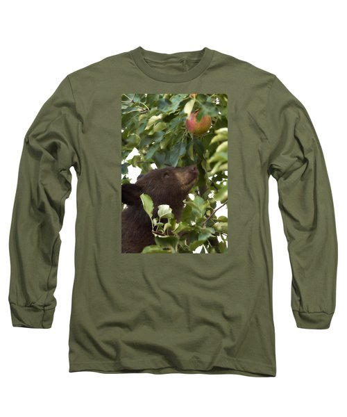 Bear Cub In Apple Tree4 Long Sleeve T-Shirt
