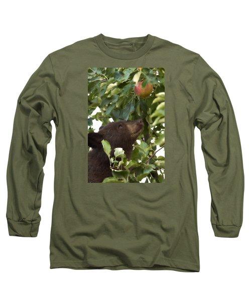 Bear Cub In Apple Tree4 Long Sleeve T-Shirt