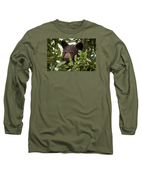 Bear Cub In Apple Tree6 Long Sleeve T-Shirt