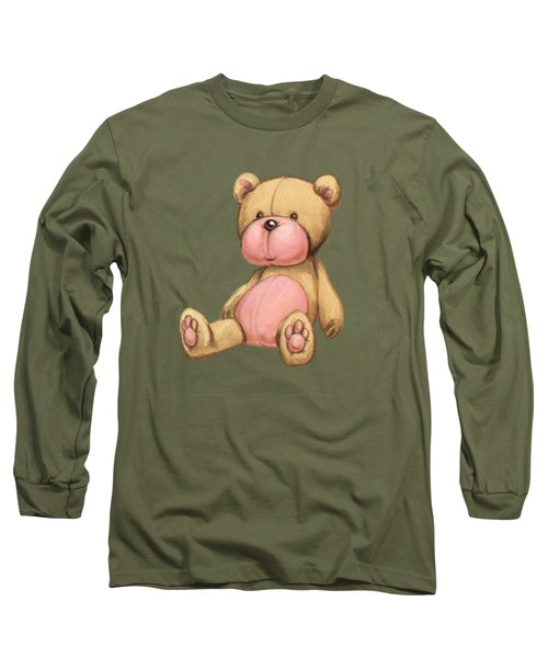 Bear Pink Long Sleeve T-Shirt by Andy Catling