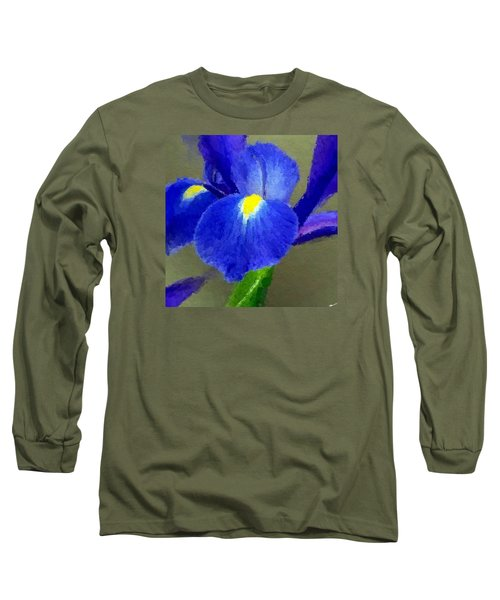 Long Sleeve T-Shirt featuring the digital art Bearded Iris by Anthony Fishburne