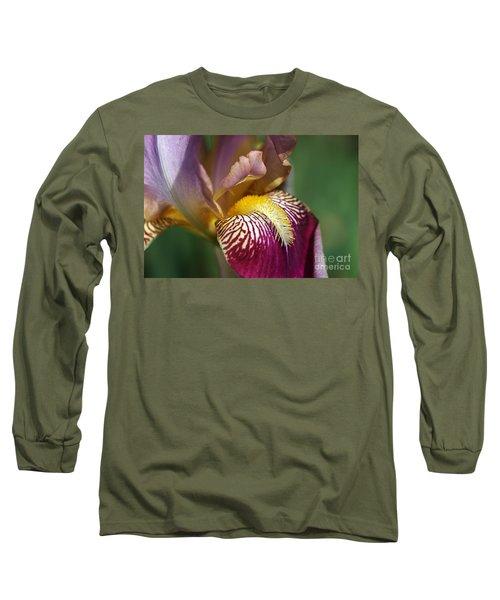 Bearded Iris Flower Mary Todd Long Sleeve T-Shirt
