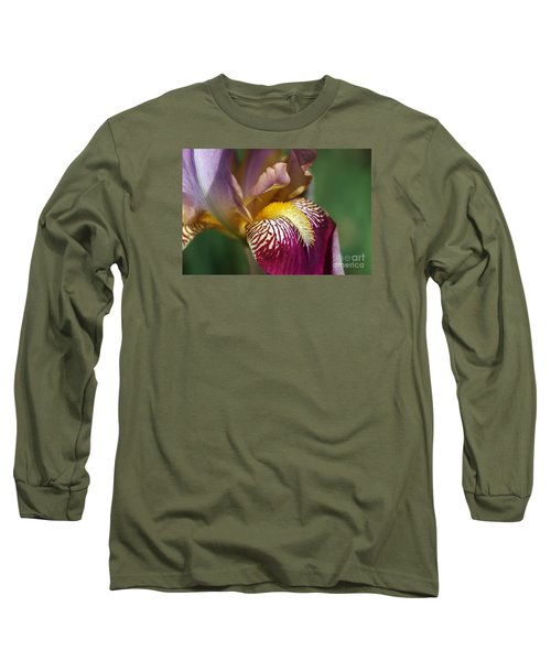 Bearded Iris Flower Mary Todd Long Sleeve T-Shirt
