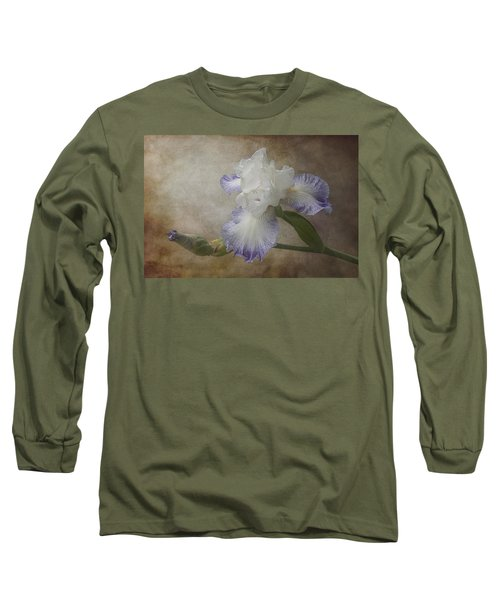 Bearded Iris Long Sleeve T-Shirt by Patti Deters