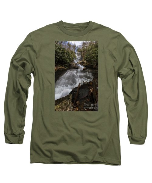 Bearden Falls Vertical Long Sleeve T-Shirt by Barbara Bowen