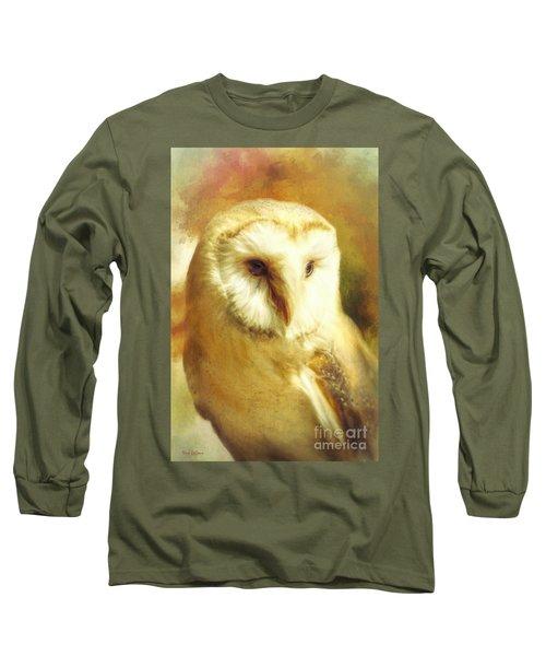 Beautiful Barn Owl Long Sleeve T-Shirt by Tina LeCour