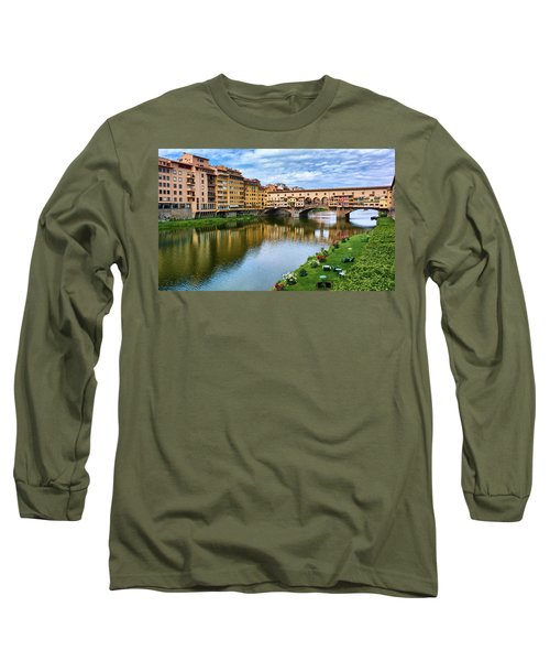 Ponte Vecchio On A Spring Day In Florence, Italy Long Sleeve T-Shirt