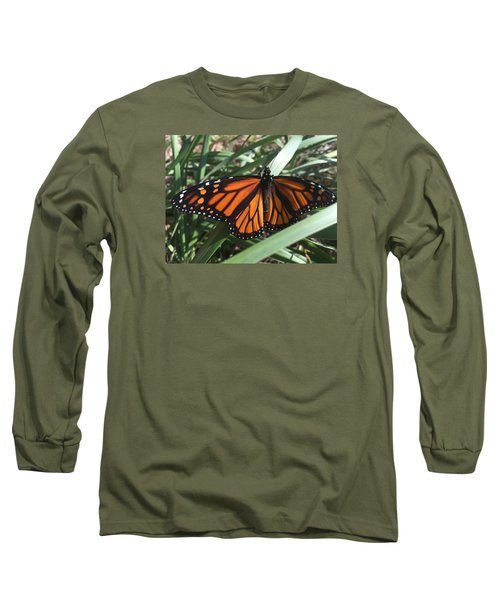 Long Sleeve T-Shirt featuring the photograph Beautiful Fall Butterfly  by Paula Brown