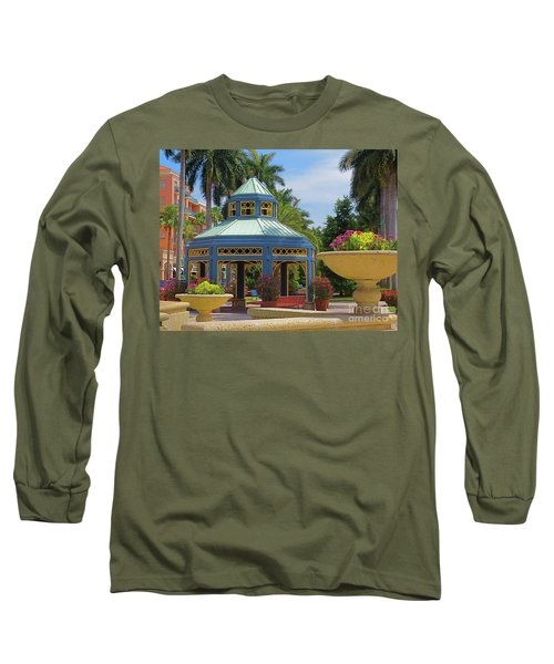 Beautiful Mizner Park In Boca Raton, Florida. #2  Long Sleeve T-Shirt