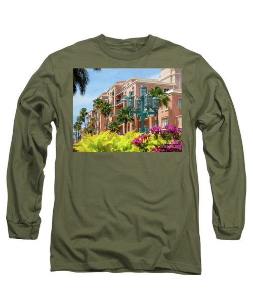 Beautiful Mizner Park In Boca Raton, Florida. #9 Long Sleeve T-Shirt